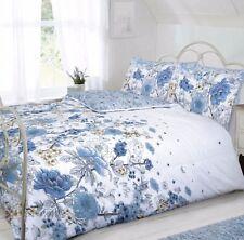 Sketch Floral Indigo Duvet Cover & Pillow Case EasyCare Bedding Set