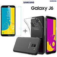 COVER per Samsung Galaxy J6 2018 CUSTODIA TPU + PELLICOLA VETRO TEMPERATO