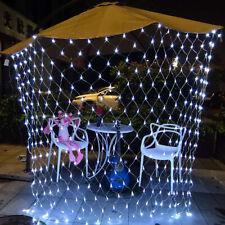 Waterproof Net Mesh LED String Fairy Lights Xmas Party Wedding Decor + Tail Plug