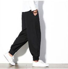 Men's Women's Casual Comfy Baggy Harem Pants Japanese Loose Boho Trousers Cotton