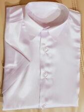Kinderhemd Jungenhemd glänzend festlich Shirt kurzarm Kragenhemd Gr. 92-146