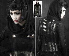 Pull gothique punk lolita destroy déchiré grand col capuche fashion Punkrave