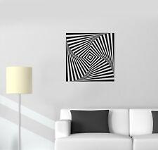 Wall Decal Optical Illusion Shape Geometry Infinity Vinyl Sticker (ed1132)