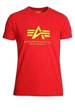 ALPHA INDUSTRIES Basic Red Cotton T-Shirt