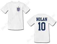 T-shirt Adulte Football Maillot Angleterre personnalisé avec prénom et numéro
