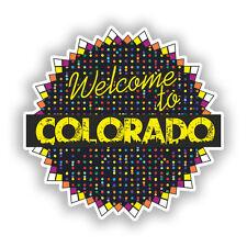 2 x Welcome to Colorado Vinile Adesivi Da Viaggio Bagaglio #7702