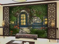 3D Grüne Hof, beleuchtung 347 Fototapeten Wandbild Fototapete BildTapete Familie