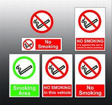 No Smoking Designated Area Sign Sticker vinyl - Car Van Taxi Shop HGV Restaurant