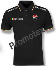 maglia polo unisex DUCATI CORSE cotone bordi tricolore italia racing maglietta