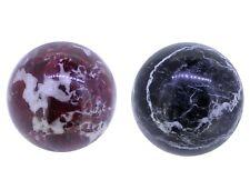 Edelsteinkugel Marmor Kugel Ø 50mm, Dekokugel Mamor rot, grün/schwarzer Mamor