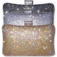Pochette CERIMONIA CRISTALLI oro argento nero dorata borsa elegante a mano D0394