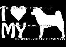 Vrs Love My Dog Akita Heart Puppy Adoption Rescue Car Decal Vinyl Sticker