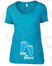 T-shirt grossesse Maternitè bebè empreintes pieds mâle PREGNANT personnalisé