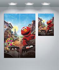 Elmo Sesame Street Giant Wall Art poster Print