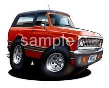 1969 - 1972 K/5 T-Shirt #9403 Blazer K5 Automotive Off Road Art