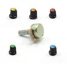 Mono B Lineal Potenciómetro Ohm Mezclador Volumen Tono Lin + 15mm Perilla De Tapa De Plástico