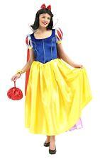 Femmes Disney Blanche Neige Deluxe Princesse De Conte De Fées Costume Déguisement Adulte