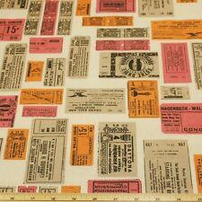 De Colección de sellos de deportes y espectáculos 100% Algodón Tejido