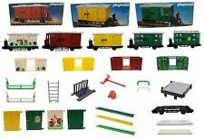 Playmobil ferrocarril viehwaggon furgón 4121 4101 4102 4115 + piezas individuales