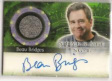Stargate Heroes Costume Autograph Card AC2 Beau Bridges
