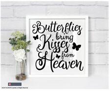 Butterflies bring Kisses from Heaven - Vinyl Sticker for box frame - Memorial