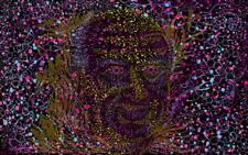 Psychedelic Albert Hofmann Portrait Fluorescent Home Party Decor Backdrop UV