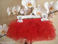 Baby filles parti rouge 6 couches jupe tu-tu partie photo prop 12-24months