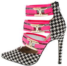 Pointy toe Gold Buckle Strap Stiletto Heel high Heel Platform Shoes Size H120