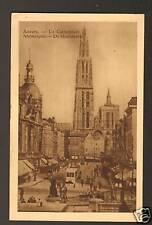 ANVERS (BELGIQUE) TRAMWAY N°1019 aux Commerces en 1931