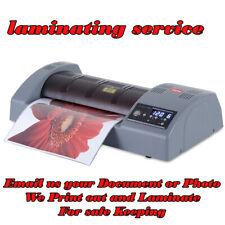 A4 Print and laminating service wedding birthdays Documents Photos gifts Menus