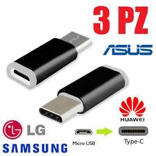 3PEZZI ADATTATORE CONVERTITORE DATA ADAPTER MICRO USB A 3.1 TYPE C MALE MASCHIO