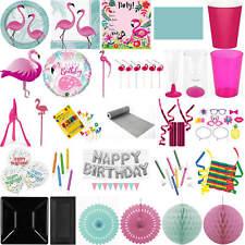 Kinder-Geburtstag Party Deko Fest Feier Fete Motto Einweggeschirr Pink Flamingo