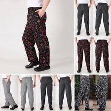 5610e23016a5 Chef Trousers Baggy Pants Kitchen Catering Restaurant Cook Uniform Plus Size