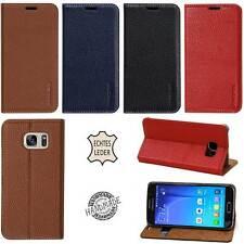 Luxus Leder Schutzhülle für Samsung S6 S7 edge/iPhone 6 7 Etui Case Tasche Cover