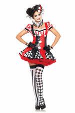 Brand New Harlequin Clown Jester Women Adult Costume