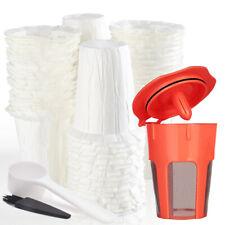 i Cafilas 100 Paper Filters  + 1 Reusale K-Carafe Coffee Filter For Keurig K-Cup