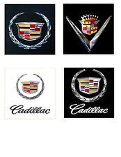 Cadillac Logo Themed 4x4 Ceramic Coasters Handmade