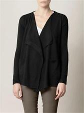 DVF Diane Von Furstenberg HURIT Wool Cardigan Sweater Top Black $298