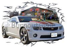 2011 White Chevy Camaro Custom Hot Rod Garage T-Shirt 11 Muscle Car Tees