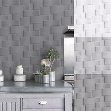Vliestapete moderne 3D Steinwand versch. grau Töne Stein Optik Grafisch Brick