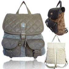 LYDC Womens Back to School Backpack College Rucksack Furry Ladies Office Handbag