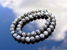 Larvikite Natural Gemstone Necklace 8mm Beaded 16-30inch Healing Stone Chakra