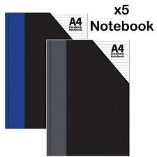 A4 RILEGATO NOTEBOOK rulled Foderato writting Blocco di carta esercizio LIBRO SCUOLA UFFICIO