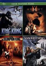 King Kong/The Mummy/The Scorpion King/Van Helsing (DVD, 2012, 4-Disc Set) FF