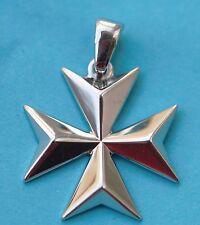 Malta MALTESE CROSS Jewellery Sterling silver Solid Pendant (Large size)
