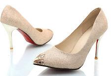 Zapatos Zapatos de salón mujer tacón de aguja 9 cm disp en 4 colores 8405 gliter
