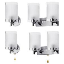 E14 Modern Glass Wall Sconce LED Light Lamp Lighting Fixture Indoor Bedroom Home