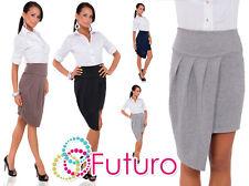 Womens Wrap Asymmetrical Skirt Cut Out New UK High Waist skirt Size 8-12 FK1270