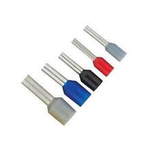 100 Stück Aderendhülsen, Twin-Aderendhülsen isoliert 0,25 bis 4 mm²