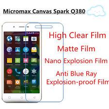 3pcsFor Micromax Canvas Spark Q380 High Clear/Matte/Soft Nano/Anti Blue Ray Film